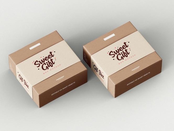 선물 상자 모형 템플릿