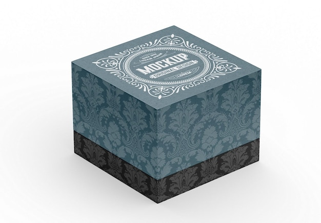 Мокап подарочной коробки