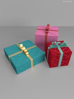 선물 상자 모형