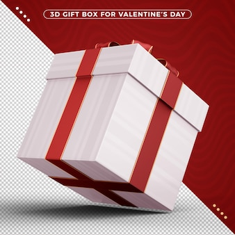 バレンタインデーを祝うためにギフトボックスを3d回転