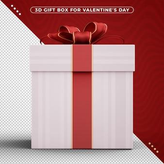 バレンタインデーを祝うために装飾的なリボンが付いているギフトボックス