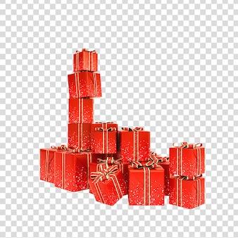 Подарочные коробки изолированные