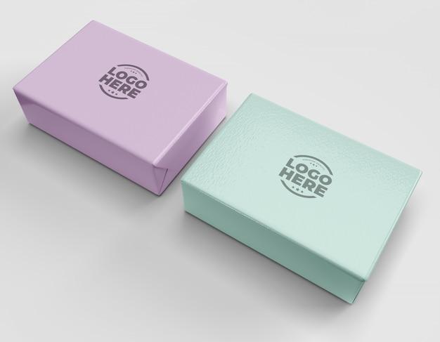 Подарочные коробки мокап
