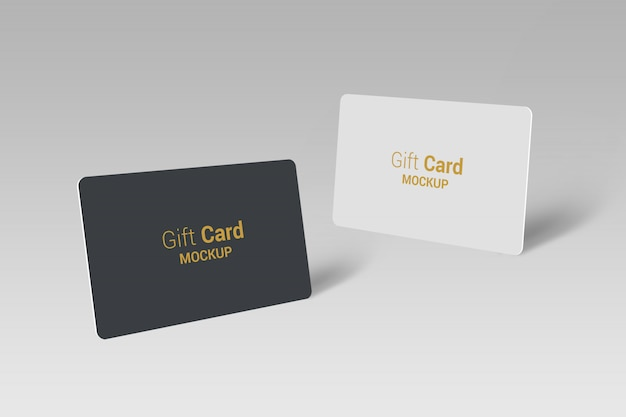 Gift card mock-up