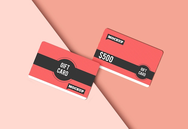 Gift card mockup design isolated Premium Psd