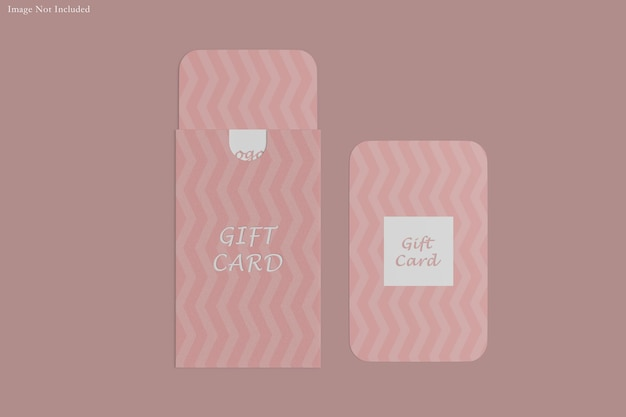 Gift card mockup design rendering
