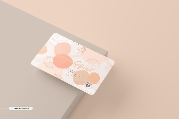 Gift card mockup on table