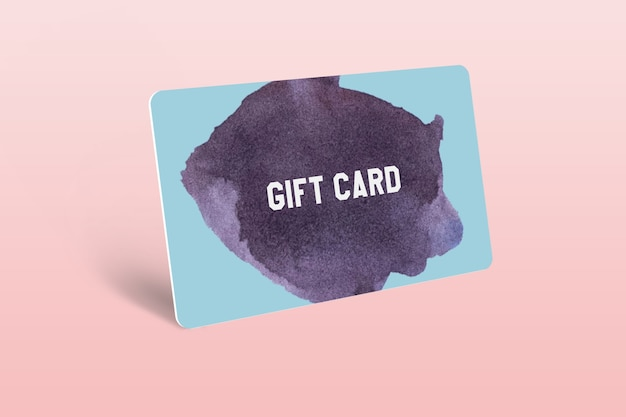 Gift card mockup template design