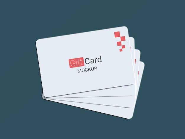 Gift card mockup