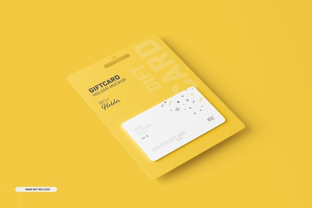 Gift card with card holder mockup