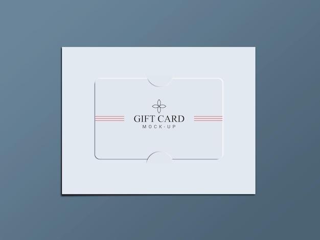 Подарочная карта с бумажными скобками дизайн макета
