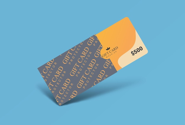 Gift card with protector mockup design