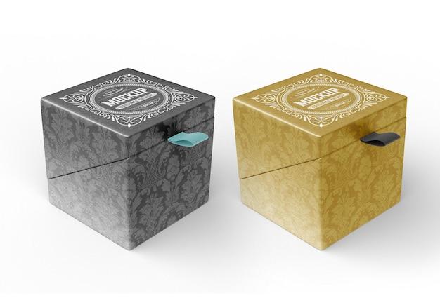 Подарочная картонная коробка, макет