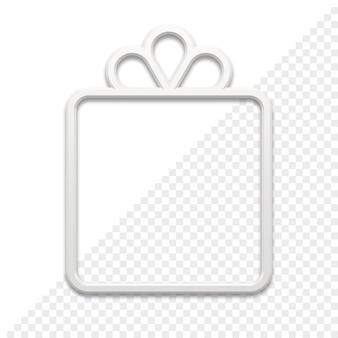 Подарок в форме рамки 3d значок