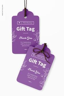 Gift tag mockup, close up