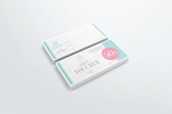 Gift voucher mockup