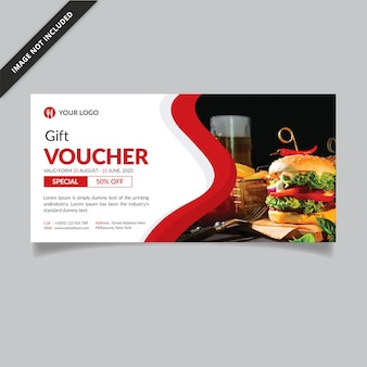 Gift voucher template | loyalty card | restaurant gift voucher