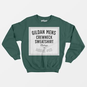 Gildanメンズクルーネックスウェットシャツ03