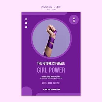 Girl power poster template