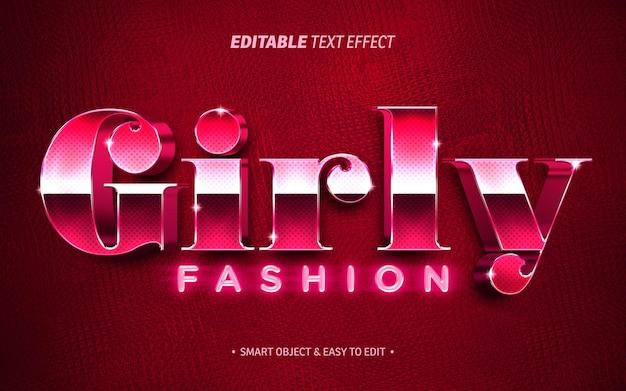 Эффект текста девчачьей моды