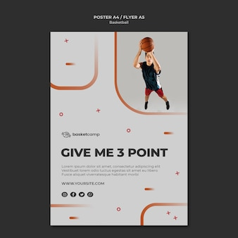 Give me 3 points basketball flyer template