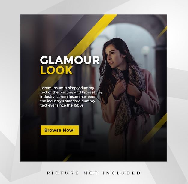 Шаблон поста glamour в социальных сетях