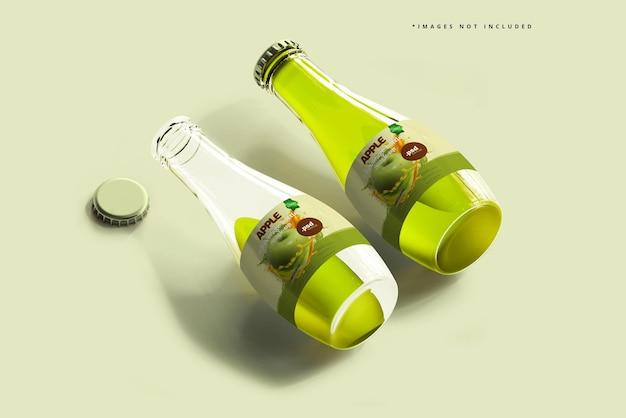 ガラス飲料ボトルのモックアップ