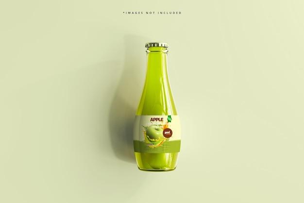 ガラス飲料ボトル モックアップ