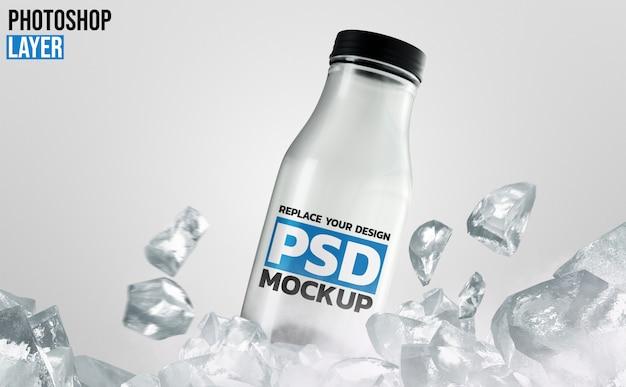 Дизайн макета стеклянной бутылки