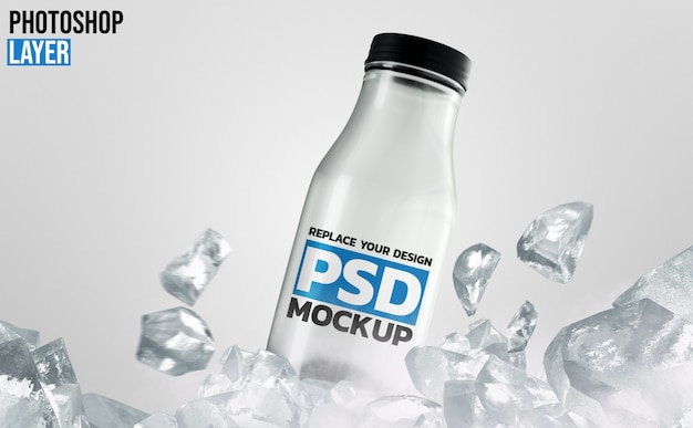 Glass bottle mockup design