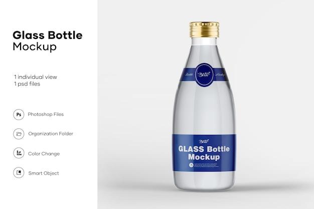 Мокап стеклянной бутылки