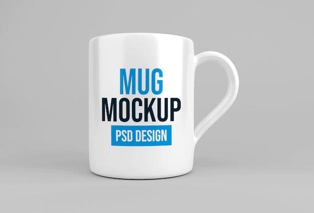 Glass coffee or tea mug mockup design