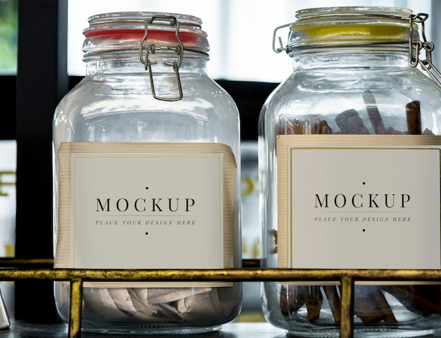 Glass container jar labels