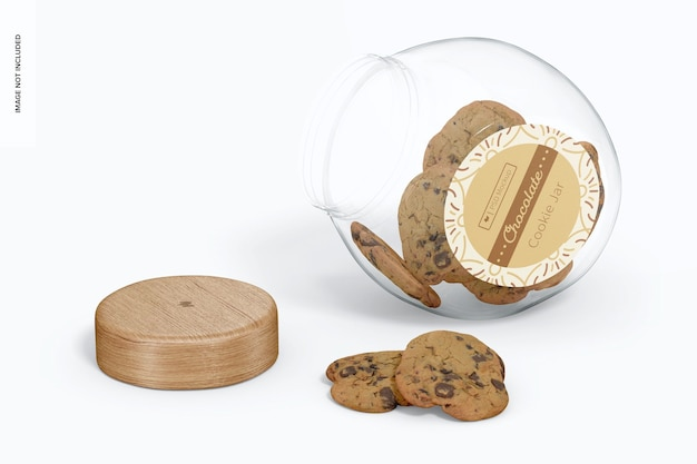 ガラスクッキージャーモックアップ、オープン