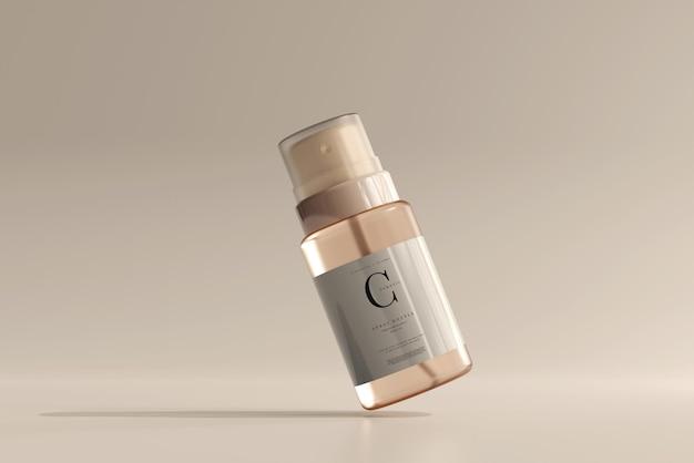 ガラス化粧品スプレーボトルモックアップ