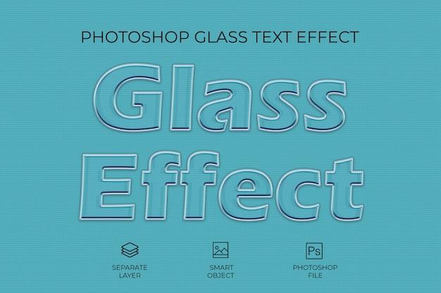 Glass effect text