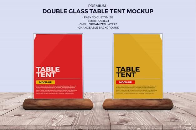 Glass food menus mockup