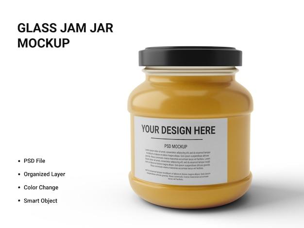Glass jam jar 모형 디자인
