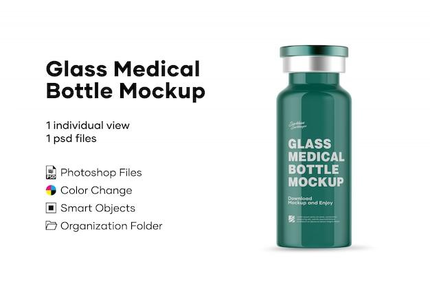 Стеклянный медицинский флакон макет