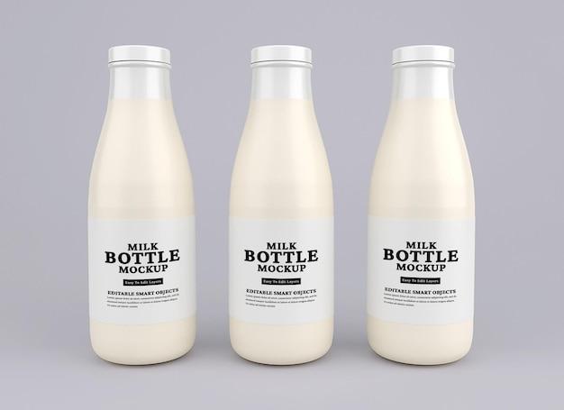 Стеклянная бутылка для молока
