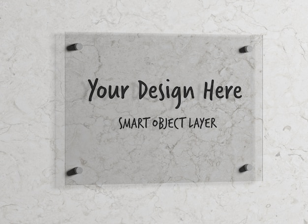 Glass plate for logo mock up