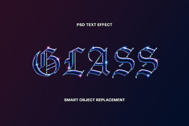 Glass text effect template
