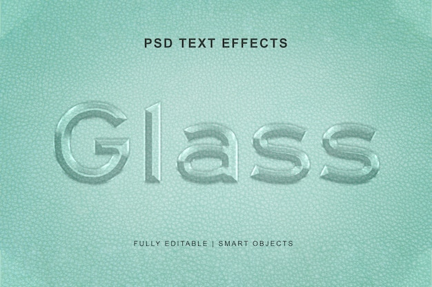 Glass text effect and text effect style