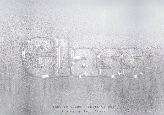 Glass text style effect