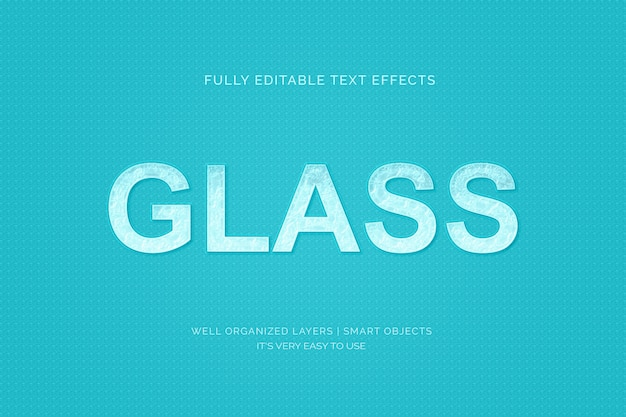 Эффект стиля текста на стекле