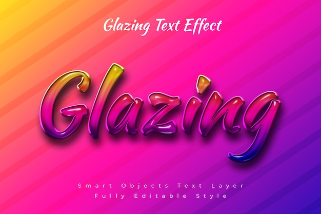 Эффект остекления текста