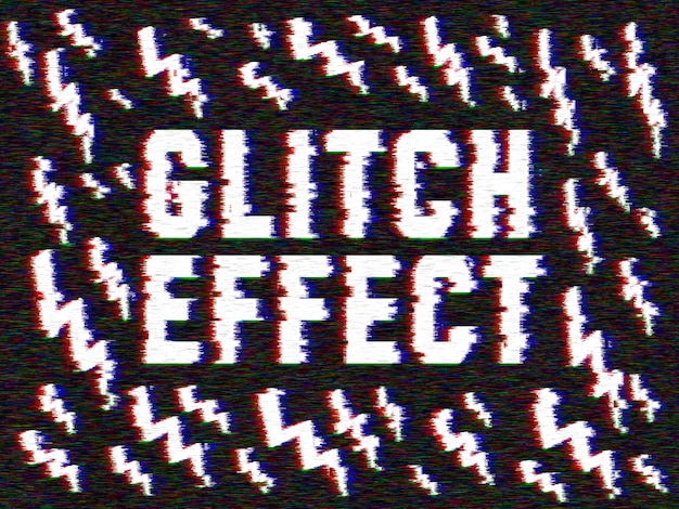 Glitch effect to your images
