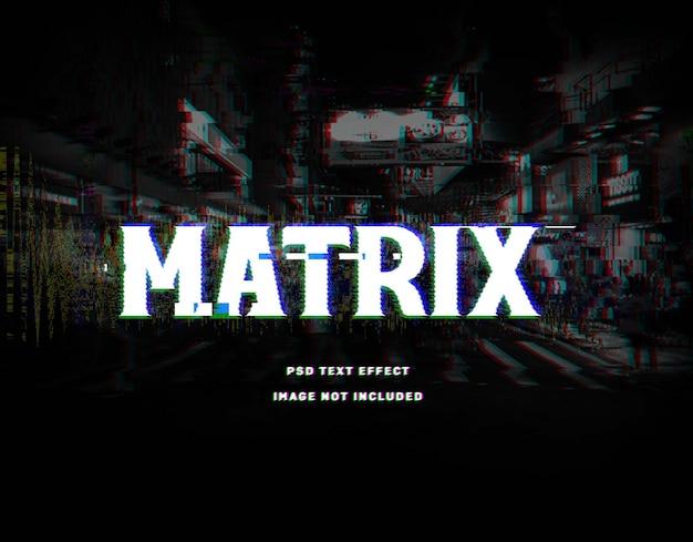 Glitch matrix text effect template