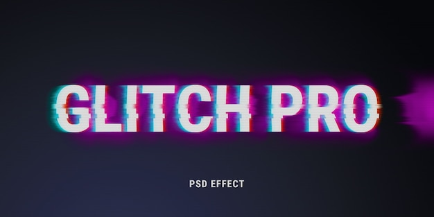 Glitch text effect mockup