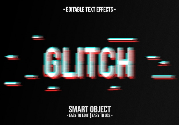 Glitch text effect